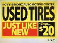 USED & NEW TIRES FREE BALANCE AND INSTALLATION