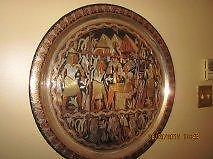 Decorative Egyptian Tray for wall decor or table top.