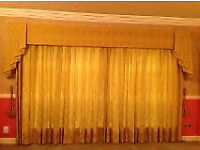 """Golden yellow curtains with lining. Very high quality. £100 per pair. B15 or B7. 83"""" D 54""""W or 66""""W"""