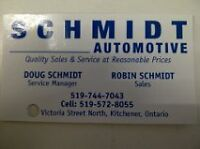 SCHMIDT AUTOMOTIVE (SAFETY INSPECTIONS $49.95)SNOW TIRES