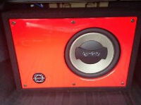 """10"""" Infinity Reference 1000 watts with basworks red enclosure"""