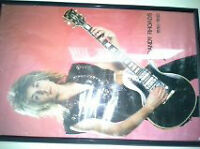RX10D JACKSON RR MODEL  GUITAR, FRAMED CHARCOAL DRAWING OF RANDY