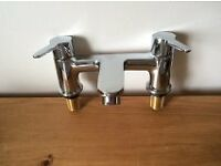 Chrome Modern Deck Mounted Bath Mixer - Brand New & Boxed