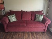 Queen hide-a-bed & love seat - matching set