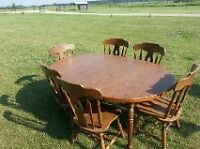 Table w/6 chairs & China cabinet