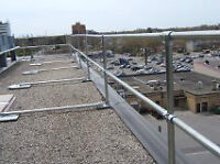 Rooftop Safety Railing, Fall Prevention, Modular System