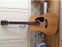 Guitar amplifiers, leads, acoustic guitars and stands, drum sticks, guitar straps