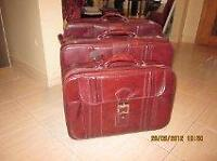 Luggage set 3 pcs in vinyl (one with wheels).  $40.