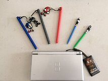 Nintendo DS Lite in Silver, games and carrying case