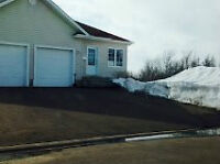 semi with garage and income potential ,sun exposure all day yard