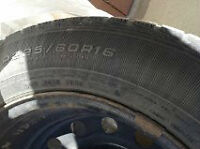 Four WINTER tires and RIMS with 20-25% tread (good year on them)