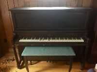Willis  88 key Piano  &  bench -Free for the taking