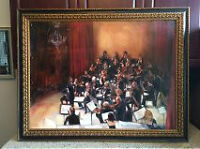 Orchestra Abstract Oil Painting