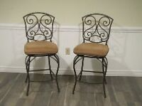 Wrought Iron/Suede Bar Stools