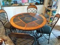 Kitchen Table with Bar and Side Tables