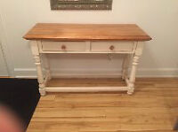 TABLE CONSOLE STYLE RUSTIQUE