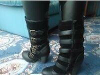 3/4 length Black Boots