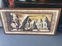 Egypt picture on material cloth that has been framed - photo frame