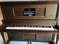 Mason and Rich Antique Player Piano and Chair
