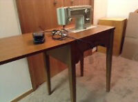 Sears Sewing machine and Wood Cabinet