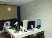 Completely furnished  3 office with reception area board room