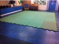 30 used green, foam, large linked practice mats