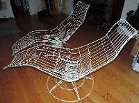2 chaises longues pivotantes, ''banana shaped'' Vintage - rétro