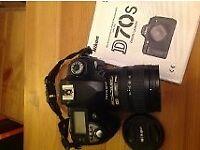 Nikon D70 Digital SLR Camera with Nikon 18-70mm zoom