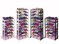 Shoe Rack Organiser Storage Stand 21 or 30 Pair / 7 or 10 Tier