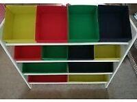 Kids storage shelves - multicoloured