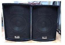 New Jersey Sound Corp NJS105 200W DJ Disco Speakers Great Conditon