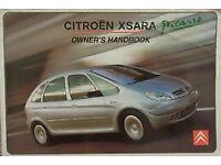 Citroen XSARA PICASSO Owners Manual Handbook 1.6 2.0 HDi DIESEL - edition 12-2002