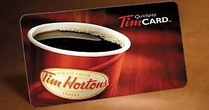 50% OFF ON 100$ TIM HORTONS PREPAID CARDS = 50$ FOR 1/100$ FOR 2