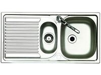 one kitchen sinks with mono tap (Still available)