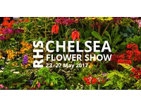 Two all day tickets for Chelsea Flower Show - Members Day - Wednesday 24 May 2017