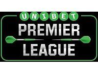 Table Seats premier League Darts Exeter 1.3.18 - Face Value