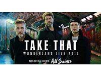 4 x Take That Tickets Wonderland Tour - 7th June - London O2, Block 115, Row H Lower Tier £150 each