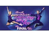 Front Row Rink Side Tickets for Torville & Dean's Dancing on Ice in Newcastle 31/3/18 2.30pm