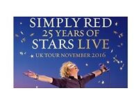 SIMPLY RED - 2 TICKETS - LIVERPOOL - 13TH NOVEMBER - £100 EACH - 4 AVAILABLE
