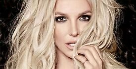 *Face Value* Britney Spears London O2 Sunday 26th August Seated Tickets