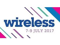 Selling x3 VIP SKYDESK WIRELESS tickets. TWO DAY tickets. 8th and 9th July. Purchased £400 EACH!