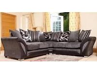 THE BEST model corner sofa brand new free pouffe fast delivery
