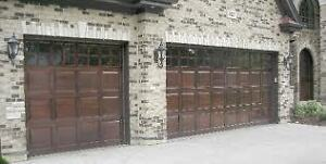 Used Metal Insulated Sectional Garage Doors c/w Hardware, Guide