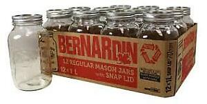 Bernardin 1 L canning jar with band new snap lid and ring.