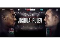 Anthony Joshua v Kubrat Pulev x 4 tickets - Lower Tier 40 - Row 23
