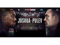 Anthony Joshua v Kubrat Pulev x 4 tickets - Lower Tier 40 - Row 23