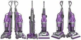 Animal purple Dyson Vacuum cleaner needs attention