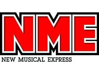 """NME Music Magazine Distributors wanted in Reading """"£12 per hour, included holiday pay"""""""