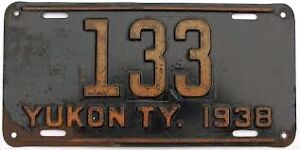 Looking for old Yukon License Plates