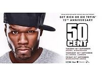 50 Cent Manchester 21st September 2 x tickets